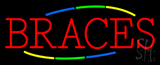Multi Colored Deco Style Braces Neon Sign