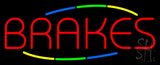 Multicolored Deco Style Brakes Neon Sign