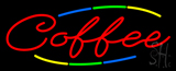 Deco Style Multi Colored Coffee Neon Sign