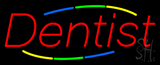 Deco Style Multi Colored Dentist Neon Sign