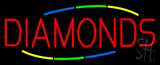 Multicolored Deco Style Diamonds Neon Sign