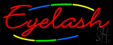 Deco Style Multi Colored Eyelash Neon Sign