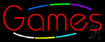 Multicolored Deco Style Games Neon Sign