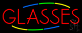 Deco Style Red Glasses Neon Sign