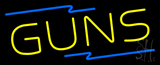 Yellow Guns Neon Sign