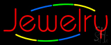 Multicolored Deco Style Jewelry Neon Sign