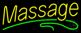 Yellow Massage Green Line Neon Sign