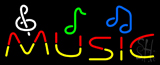Music With Notes Neon Sign
