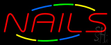Red Nails Multi Colored Neon Sign
