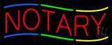 Multi Colored Notary Neon Sign
