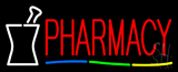 Red Pharmacy Logo Neon Sign