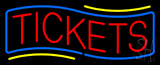 Red Tickets Blue Border Neon Sign