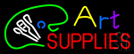 Art Supplies With Logo Neon Sign