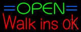 Green Open Red Walk Ins Open Neon Sign