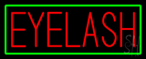 Red Eyelash Green Border Neon Sign