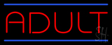 Red Adult Blue Lines Neon Sign