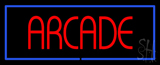 Red Arcade Blue Border Neon Sign
