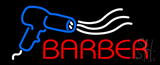 Barber With Dryer Logo Neon Sign