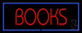 Red Books With Blue Border Neon Sign