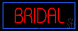 Bridal Rectangle Blue Neon Sign