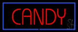 Red Candy With Blue Border Neon Sign