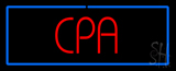Red Cpa With Blue Border Neon Sign
