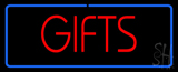 Gifts Rectangle Neon Sign