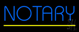 Blue Notary Yellow Line Neon Sign