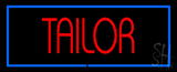 Red Tailor With Blue Border Neon Sign