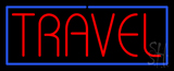 Red Travel Blue Border Neon Sign