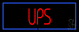 Ups Block Blue Border Neon Sign