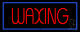 Red Waxing Blue Border Neon Sign