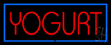 Red Yogurt With Blue Border Neon Sign