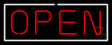 Open Horizontal Red Letters With White Border Neon Sign