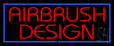Red Airbrush Design With Blue Border Neon Sign