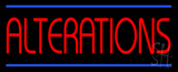 Red Alterations Blue Lines Neon Sign