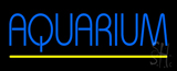 Blue Aquarium Yellow Line Neon Sign