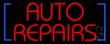 Red Auto Repairs Block Neon Sign