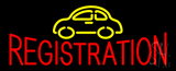 Auto Registration Car Logo Neon Sign