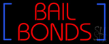 Red Bail Bonds Blue Brackets Neon Sign