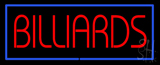 Red Billiards Blue Border Neon Sign
