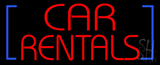 Red Car Rentals Neon Sign