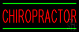 Red Chiropractor Green Lines Neon Sign