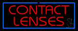 Red Contact Lenses Blue Border Neon Sign