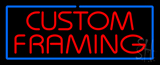 Red Custom Framing Blue Border Neon Sign