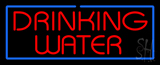 Red Drinking Water With Blue Border Neon Sign