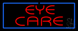 Red Eye Care Blue Border Neon Sign
