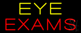Yellow Eye Exam Neon Sign