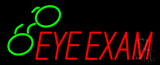 Red Eye Exam Green Glass Neon Sign