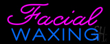 Cursive Pink Facial Waxing Neon Sign